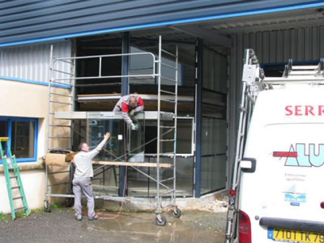 Atelier - rénovation bâtiment menuiserie metallique 17