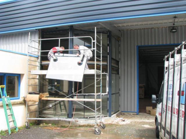 Atelier - rénovation bâtiment menuiserie aluminium Ile de Ré