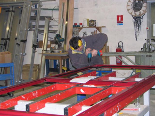 Atelier - rénovation bâtiment store Ile de Ré