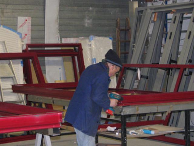 Atelier - rénovation bâtiment store Niort